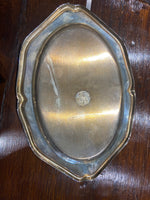 Three Miniature Silver Plate Trays