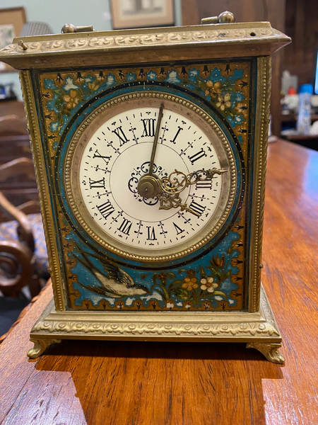 French Enamel Carriage Clock Circa 1878