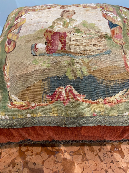 18th C. French Tapestry Made into Pillow