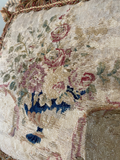 18th C.French Aubusson Tapestry Pillow (two available )