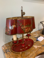 19th C. French Tole Lamp
