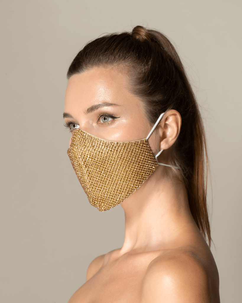 Fashion Mask - Gold Crystal - WEAT EU