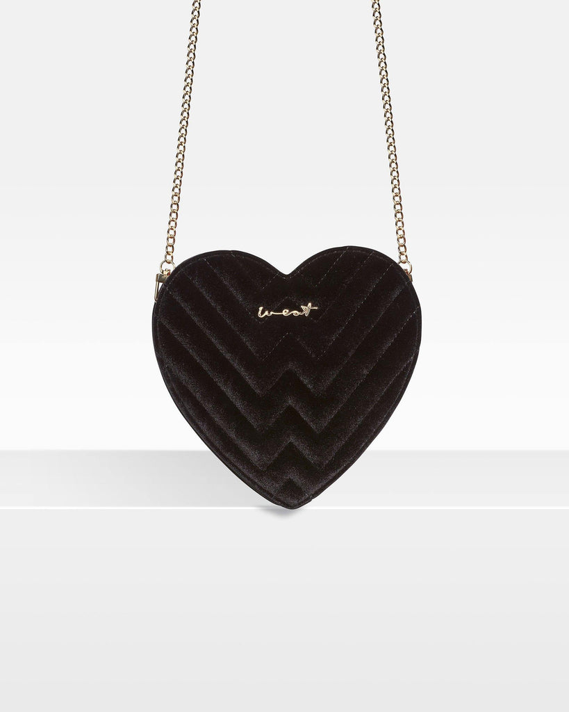 Heart Bag Velvet Black