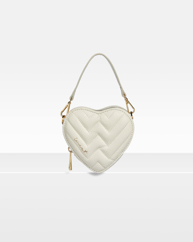 Mini Heart Bag Marshmallow