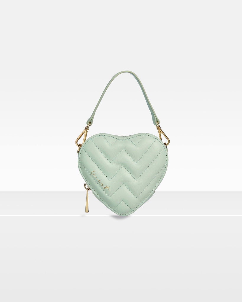 Mini Heart Bag Seafoam