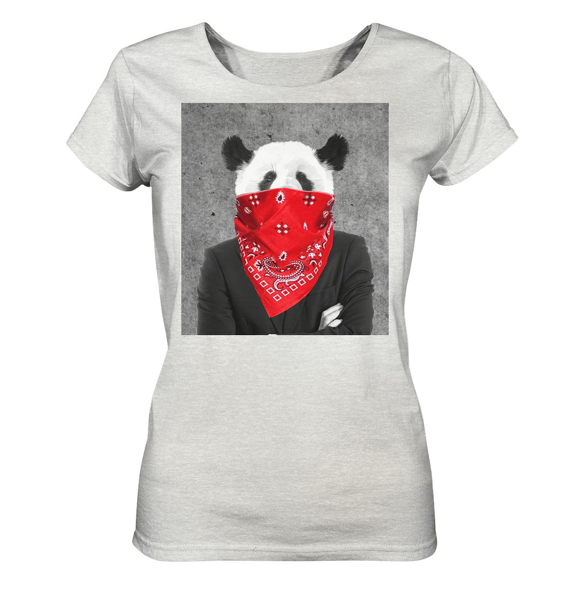 Rebell Panda - Ladies Organic Shirt (meliert)