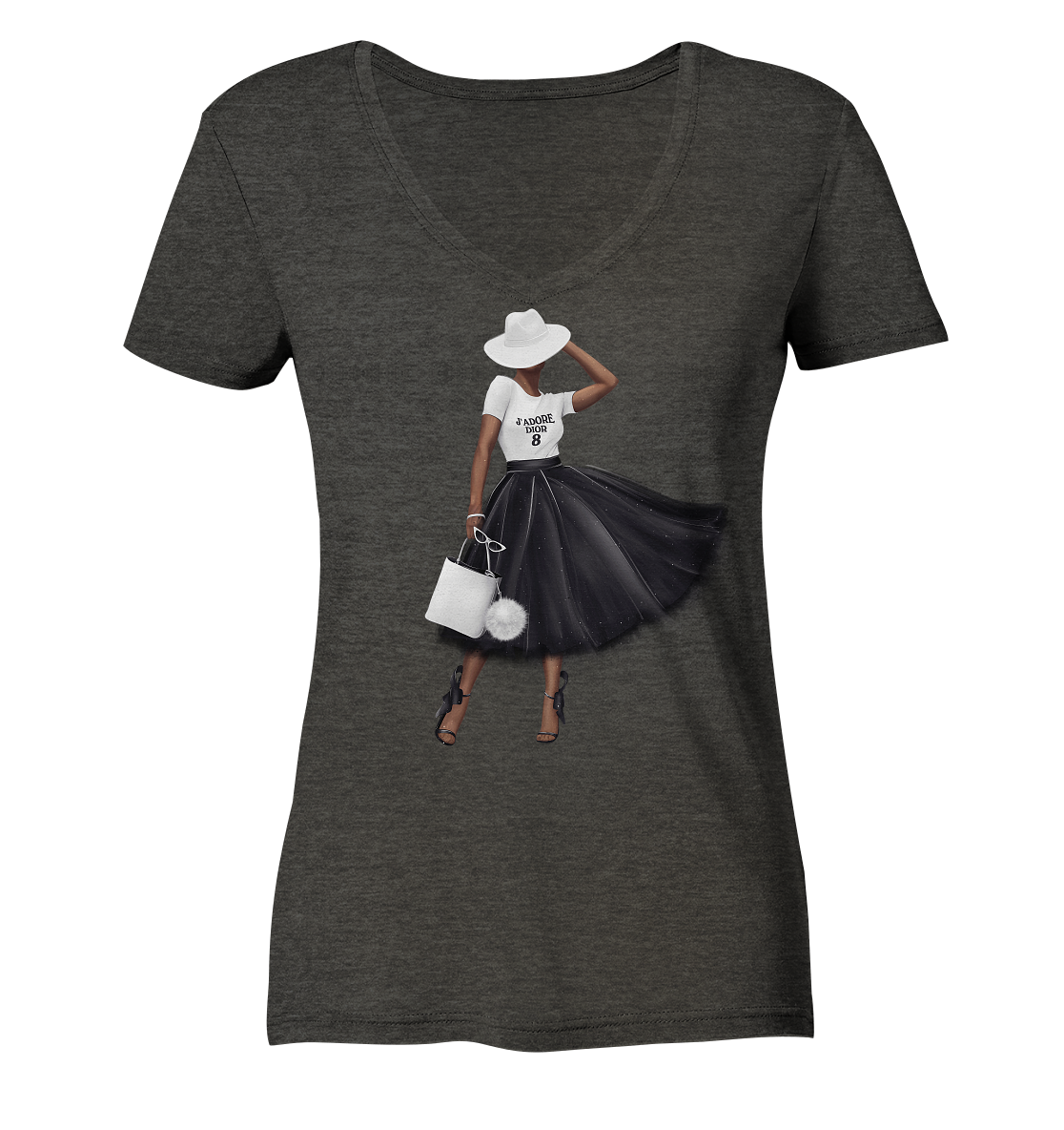 Faith Fashion - Ladies Organic V-Neck Shirt