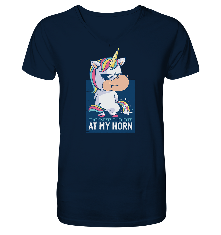 My Horn - Mens Organic V-Neck Shirt
