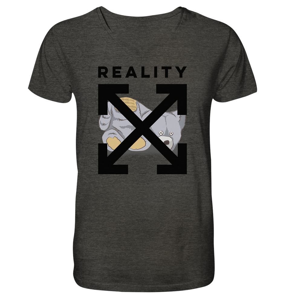 Reality - Mens Organic V-Neck Shirt