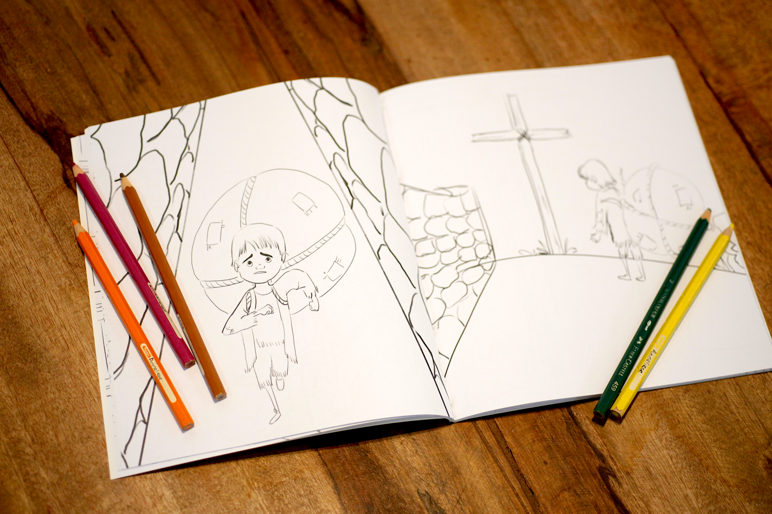 Little Pilgrim's Big Journey + Coloring Book Set