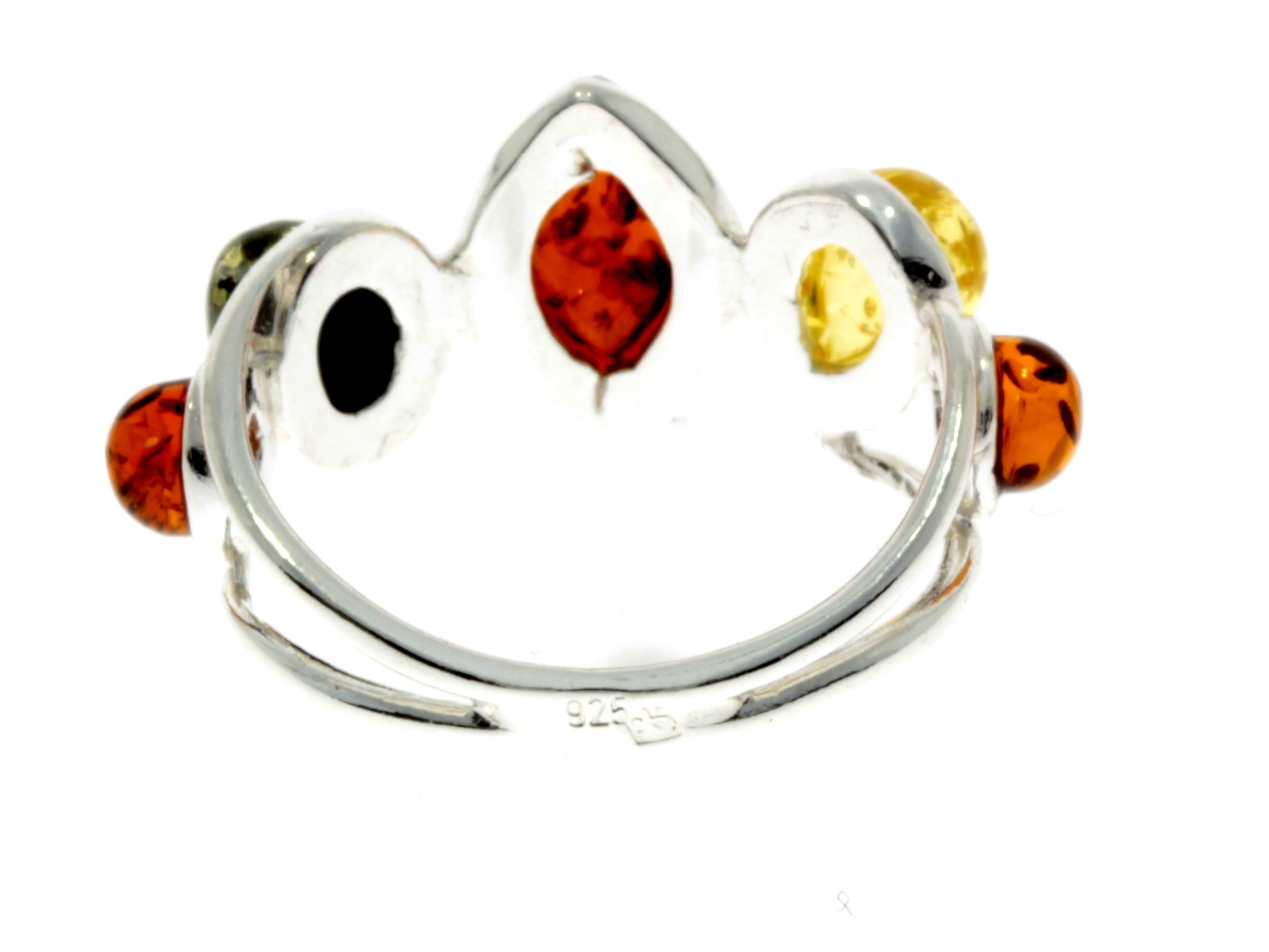 925 Sterling Silver & Baltic Amber Classic Ring - M722