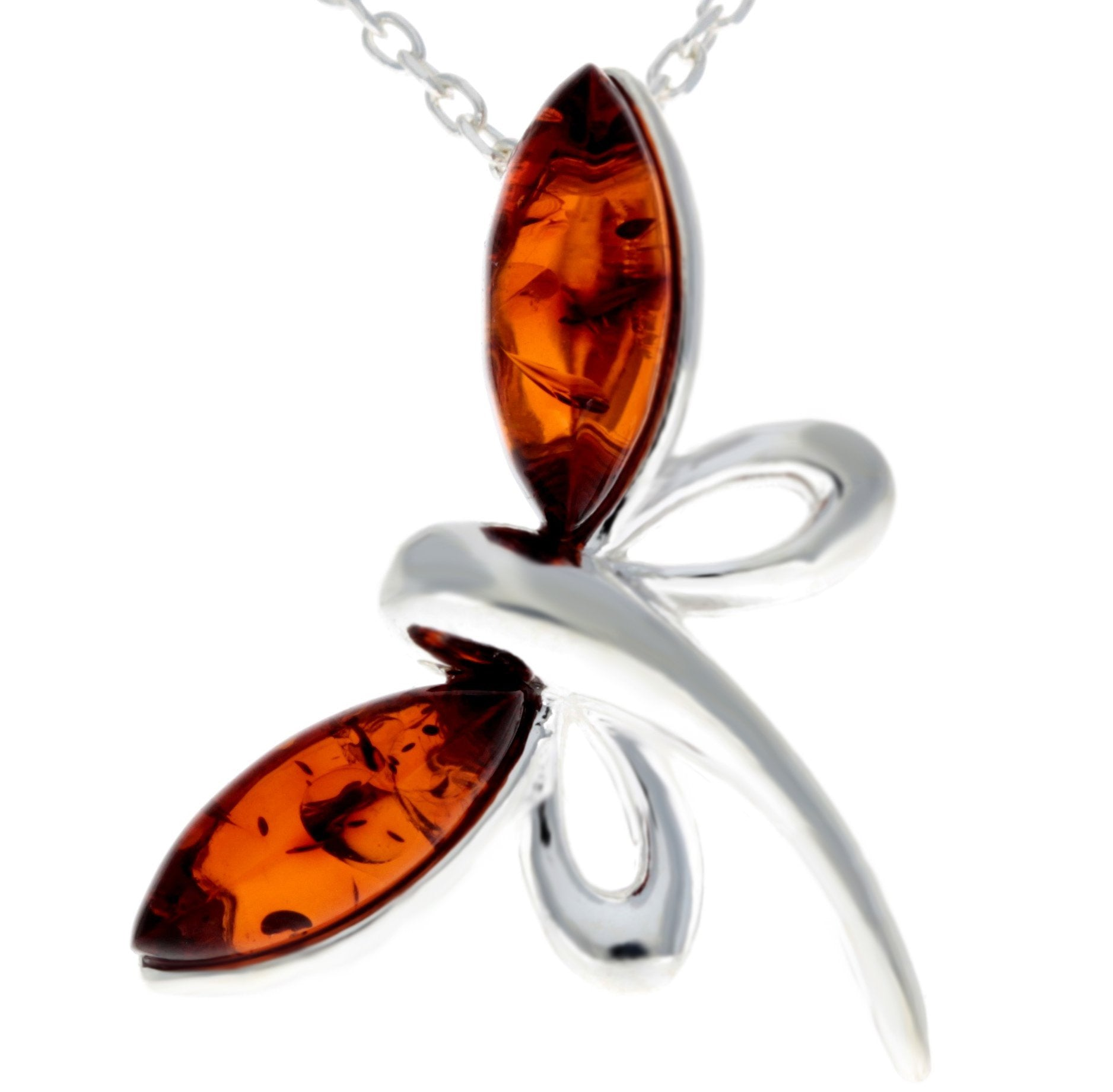 925 Sterling Silver Butterfly with Baltic Amber - GL362