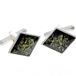 925 Sterling Silver & Baltic Amber Classic Cufflinks - AAC007