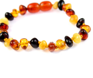 Beautiful Baroque Bracelets & Anklets in Cognac colour - Various Sizes