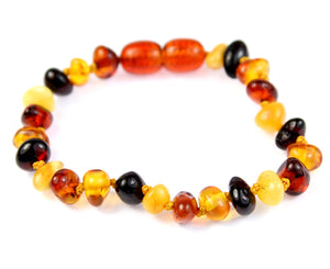 Beautiful Baroque Bracelets & Anklets in Cognac colour - Sizes Baby to Adults