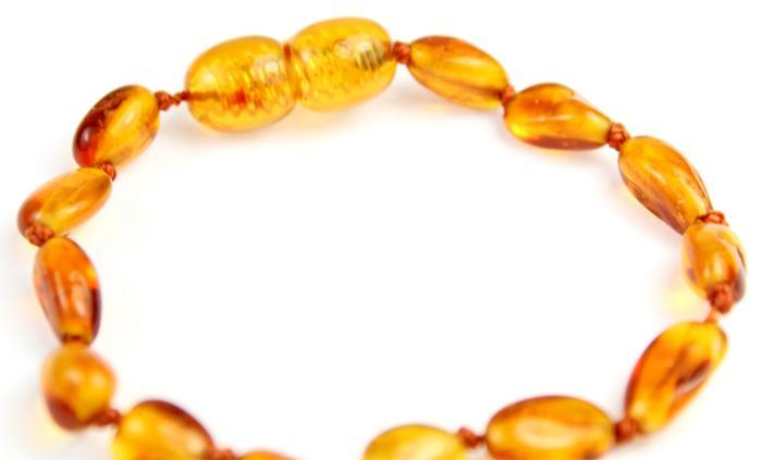 Certified Baltic Amber Beans Beads Bracelet in Cognac Colours - Sizes Baby to Adult - SilverAmberJewellery