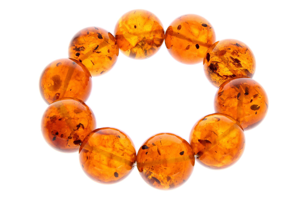 Exclusive perfect ball Genuine Baltic Amber Bracelet - BT0124 - SilverAmberJewellery