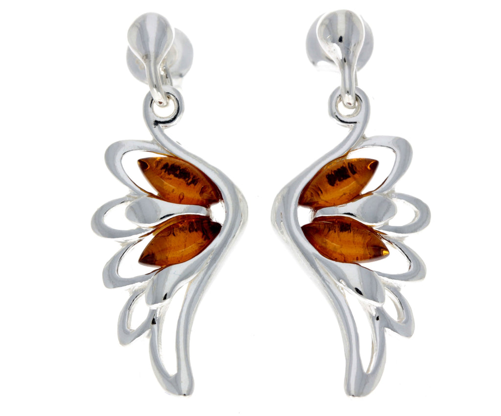 Beautiful Drop Earrings in Cognac - SilverAmberJewellery