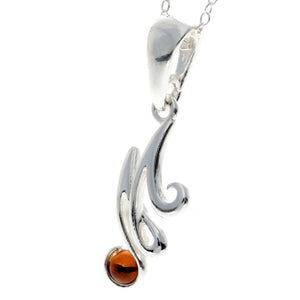 925 Sterling Silver & Baltic Amber Alphabet Letters Pendant - GL2003