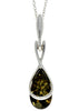 925 Sterling Silver Modern Pendant with Baltic Amber - GL381