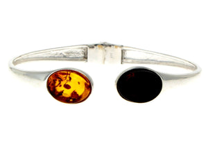Beautiful Designer Silver Bracelet set with Baltic Amber - GL540 - SilverAmberJewellery