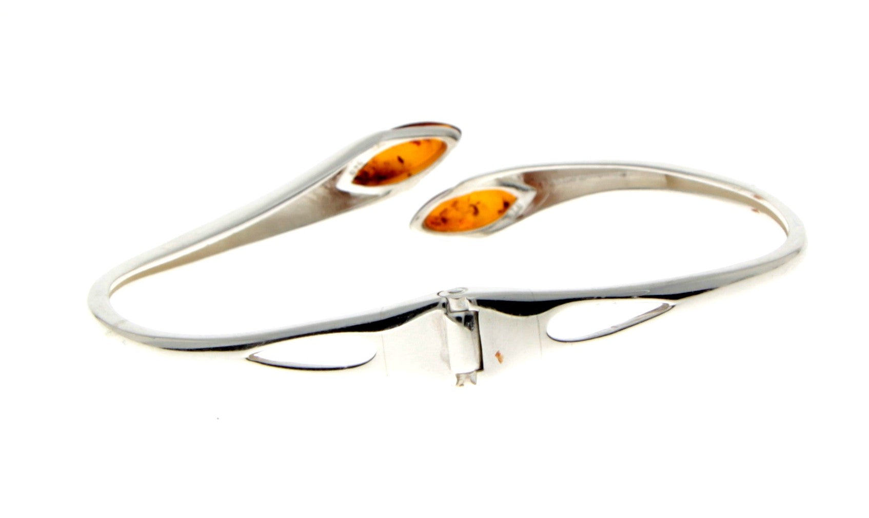 Beautiful Designer Silver Bracelet set with Baltic Amber - GL541 - SilverAmberJewellery