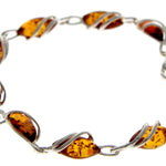 Beautiful Designer Silver Bracelet set with Baltic Amber - GL543 - SilverAmberJewellery
