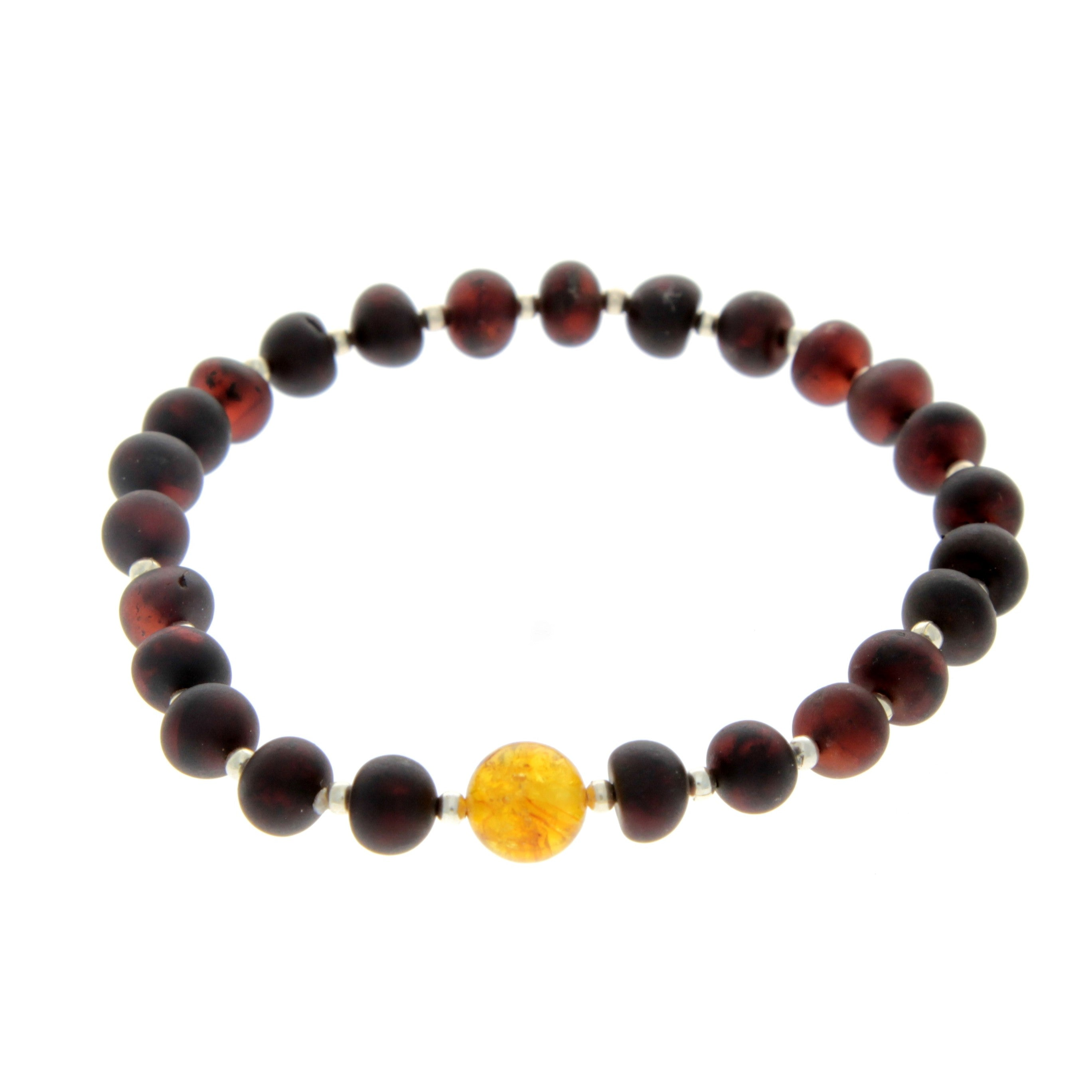 Genuine Baltic Amber Elastic Bracelet for Men - MB001