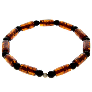 Genuine Baltic Amber Elastic Bracelet for Men - MB002
