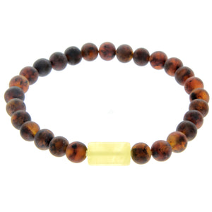 Genuine Baltic Amber Elastic Bracelet for Men - MB004
