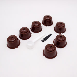 7 PCS Mix Coffee Filter 20ml Reusable Refillable Coffee Capsule Filters