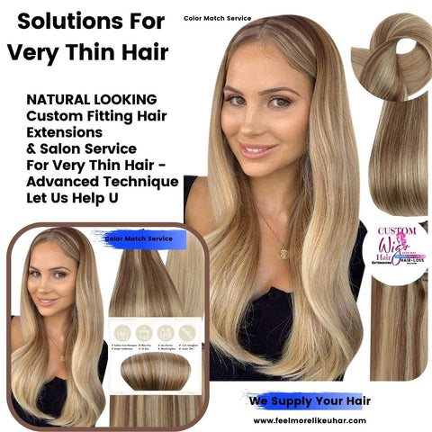 Natural Looking Solutions For Very Thin Hair Salon Services | We Supply Your Hair