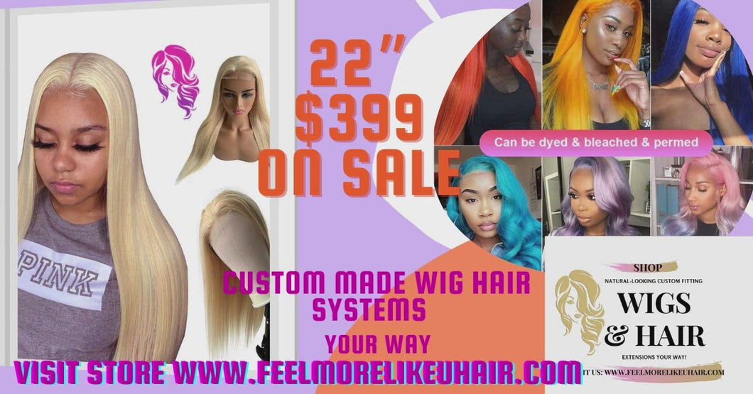613 Blonde Lace Front Wig Human Hair Pre Plucked Bleached Knots 26