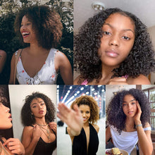 Load image into Gallery viewer, Custom Fitting Medical Wig Human Hair Replacement for Women Hair System | Kinky Curly Virgin Hair