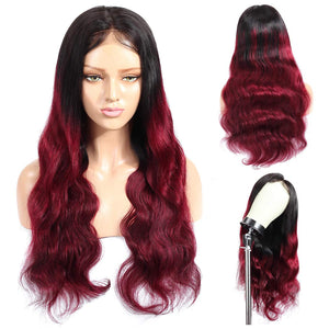 99J Burgundy Color Lace Front Wig Custom Protective Style Ready2Wear Hair System