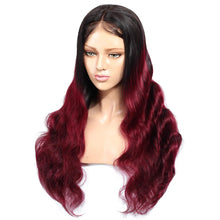 Load image into Gallery viewer, 99J Burgundy Color Lace Front Wig Custom Protective Style Ready2Wear Hair System