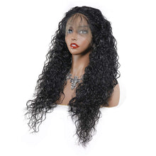 Load image into Gallery viewer, Human Hair Blend Lace Frontal Custom Hand-Tied Hair System Wig with Baby Hair - Loose Curly