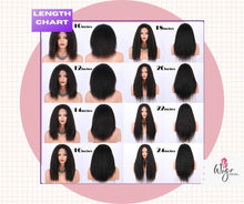 Load image into Gallery viewer, Kinky Straight Human Hair Wigs For Black Women 4x4 Lace Yaki Wigs Human Hair Glueless wigs 14-22 Inch Brazilian Virgin Remy Yaki Hair Wigs 150%. https://www.feelmorelikeuhair.com/products/yaky-kinky-straight-lace-front-wig