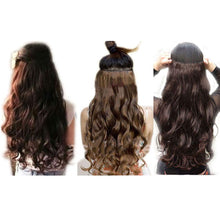 "Load image into Gallery viewer, 24"" Custom Made Human Hair Extensions Hairpiece"
