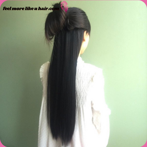 "24"" Custom Made Human Hair Extensions Hairpiece"