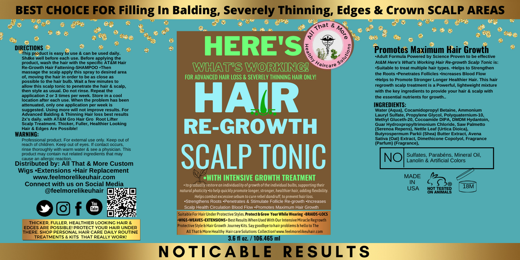 All That & More Hair Regrowth Scalp Treatment Tonic