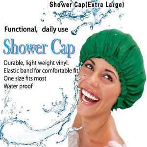100% Waterproof Shower Cap  | Keep All Your Hair, Extensions, Wig & Braids Dry While Bathing