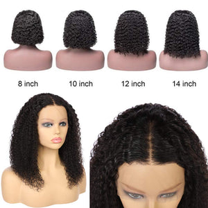 100 % Virgin Human Hair Wigs Glueless Lace Front Wig Short Wave Wig