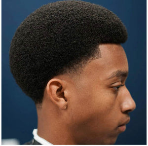 Template Custom Fitting Afro Hair Replacement System For Men