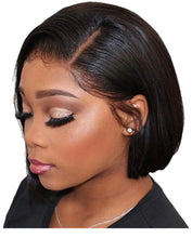 Load image into Gallery viewer, Straight Human Hair Lace Front Short Bob Wig