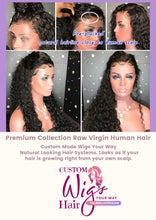 Load image into Gallery viewer, Custom Made Full Lace Wig-Raw Cambodian Curly Wave-Transparent Lace Color 18 inch