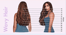 Load image into Gallery viewer, Hair Length Chart for Hair Extensions