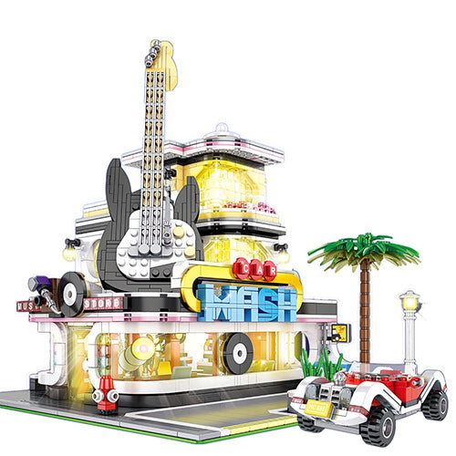 2168Pcs Guitar House Building Blocks Custom Construction Toys
