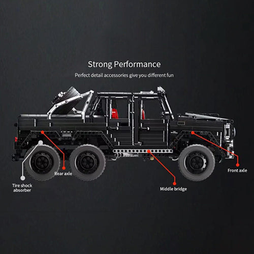 Technic Offroader G63 Offroader Model, 3300 pcs Technic Building Bloc with Motorised kit