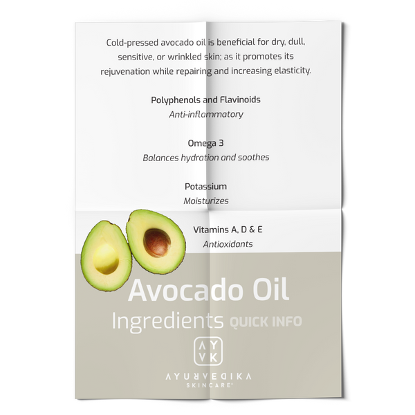 Our Ingredients. Avocado Oil. Quick Info